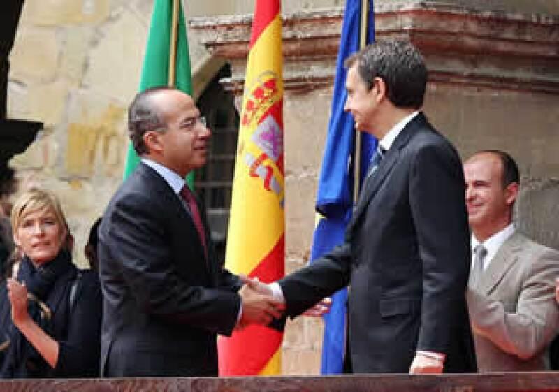El Presidente Felipe Calderón se reunió con su homólogo español, José Luis Rodríguez Zapatero. (Foto: Notimex)