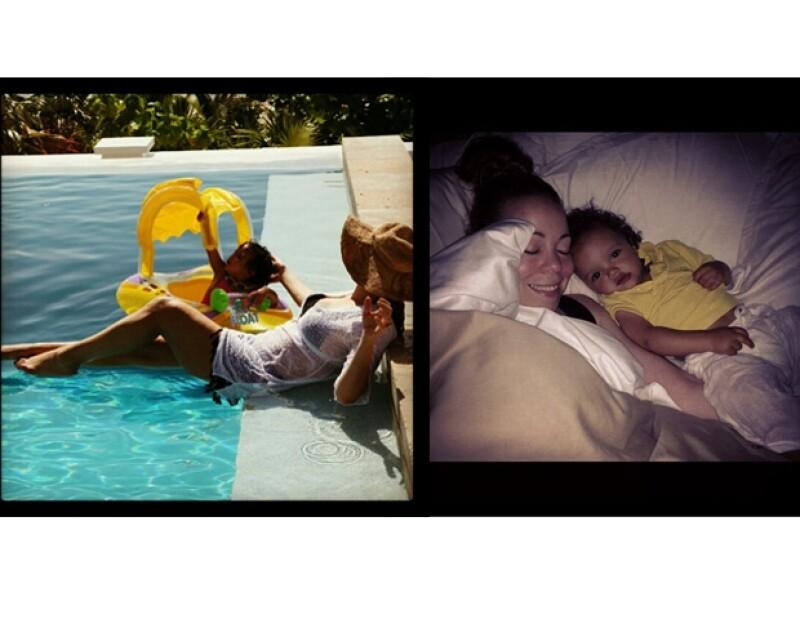 En las fotografías no aparece el padre de sus hijos, Nick Cannon.