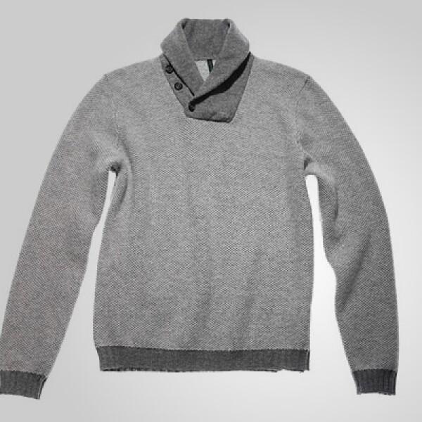 Con estilo casual, este sweater con cuello tipo mao le dará un toque 'chic' a tu vestimenta.