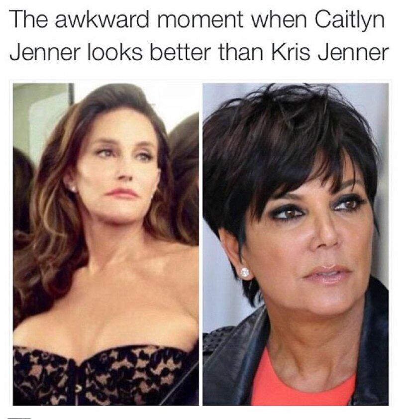 Los memes han puesto especial atención en la reacción de Kris Jenner, quien fuera su esposa.