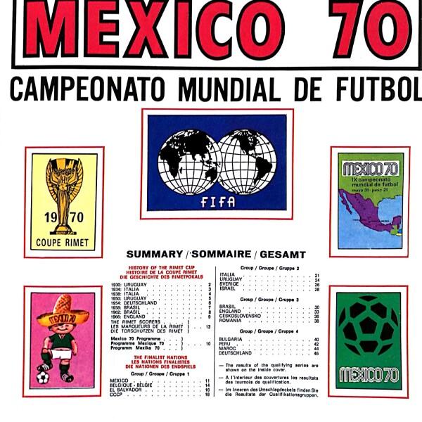 México Mundial Panini 1970