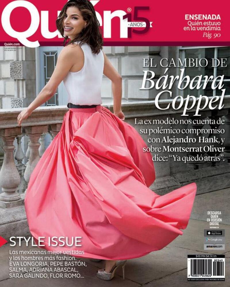 Bárbara Coppel es la portada de la revista Quién®.
