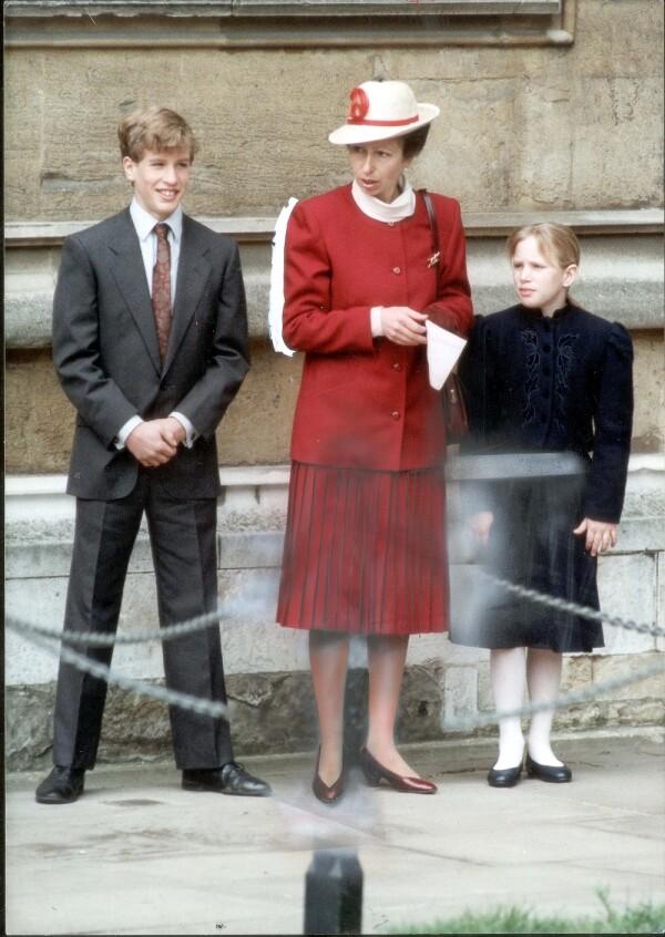 Peter Phillips, princesa Ana y Zara Tindall