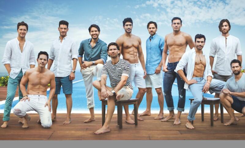 Los 12 hombres más sexys durante la sesión de fotos, en Acapulco.