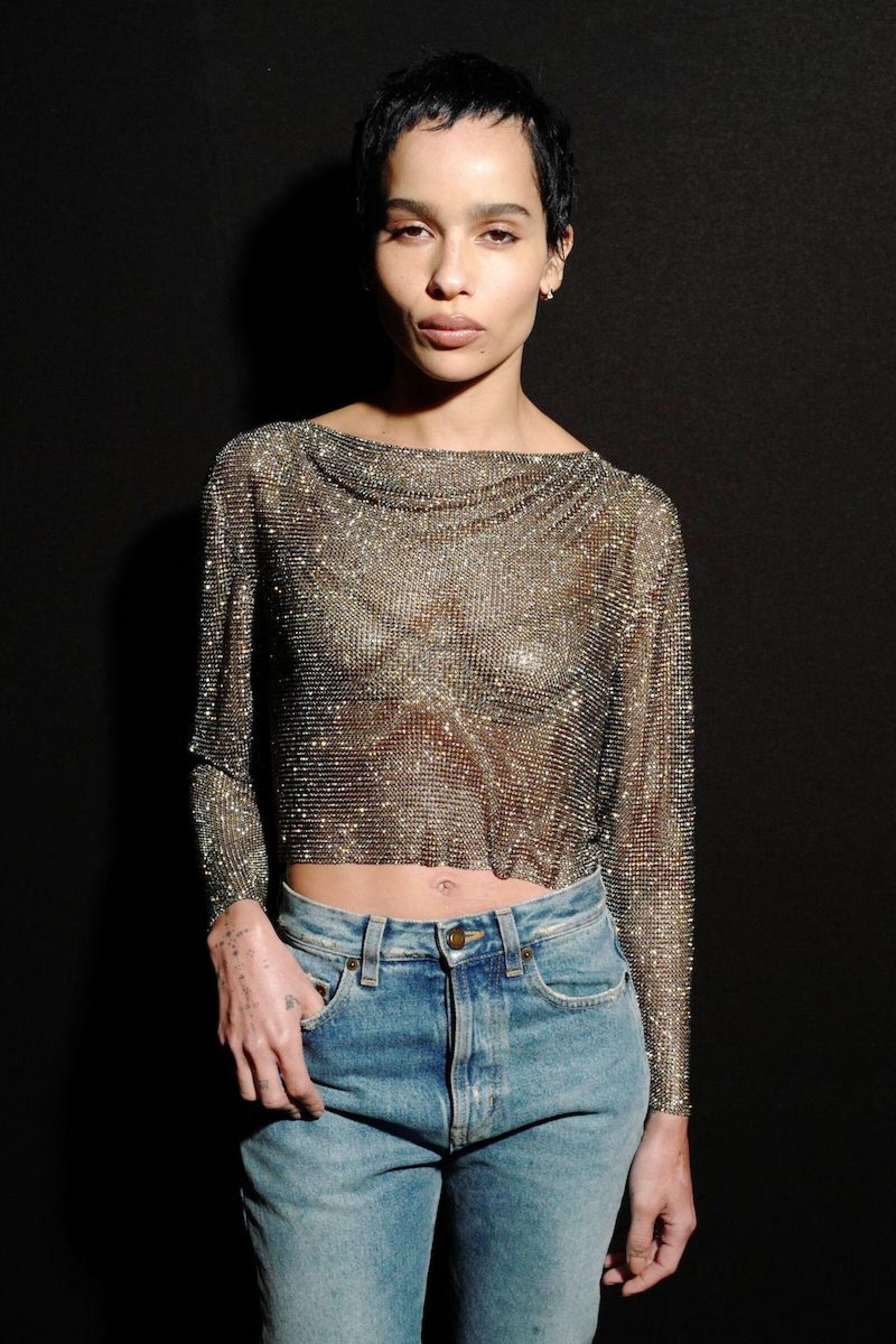 Saint Laurent show, Front Row, Fall Winter 2020, Paris Fashion Week, France - 25 Feb 2020