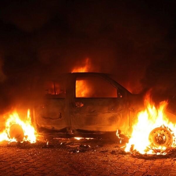 protestas embajada libia