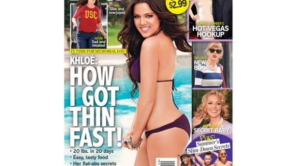 La estrella de reality show posó para una revista estadounidense, donde muestra su nueva figura y revela cómo es que perdió tanto peso en 20 días.