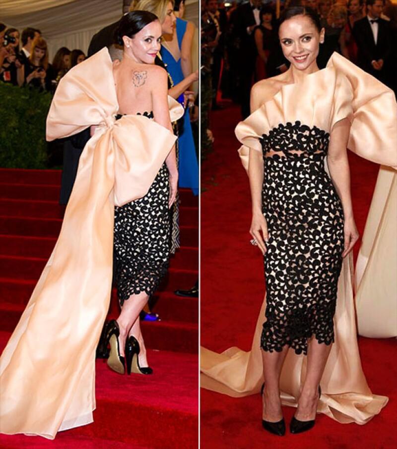 Christina Ricci en la Met Gala del 2012.
