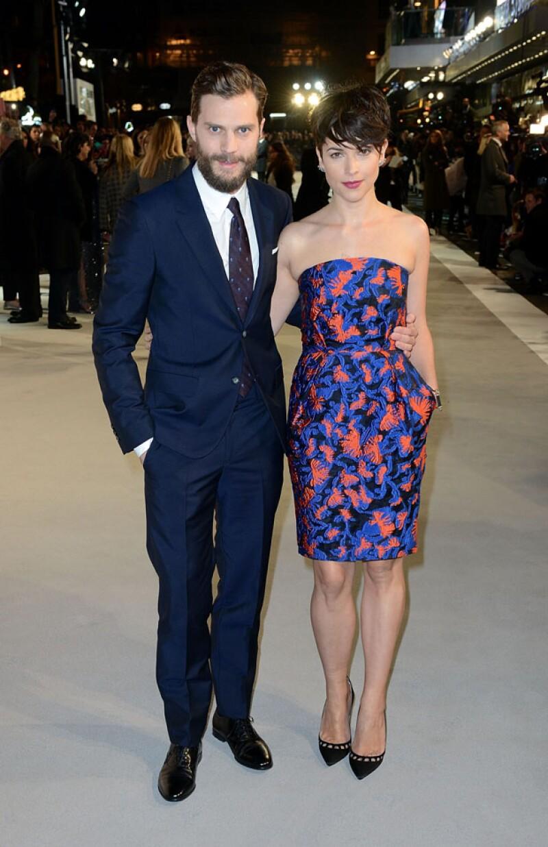 Jamie Dornan y su guapa esposa Amelia Warner.