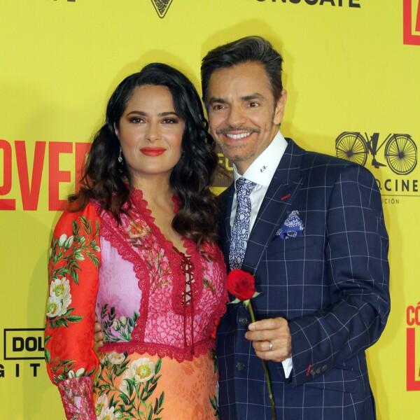 Salma Hayek y Eugenio Derbez enloquecen la Ciudad de México