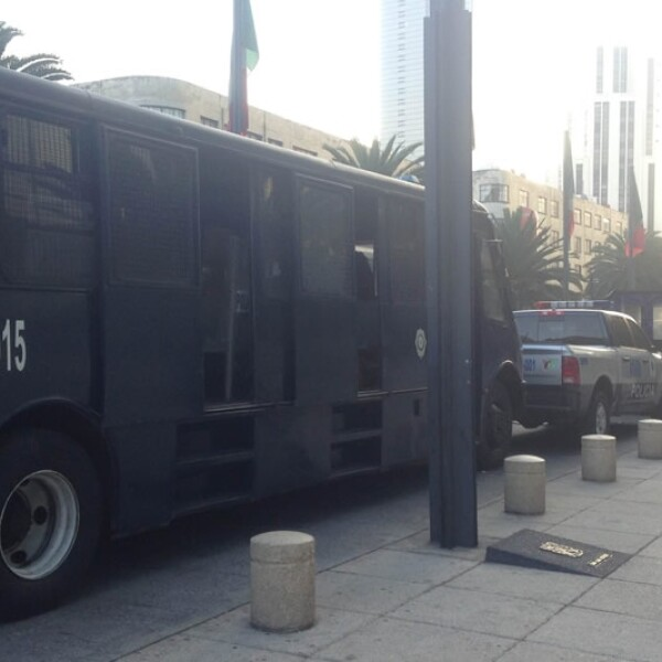 La Plaza de la República luce tras el desalojo de la CNTE