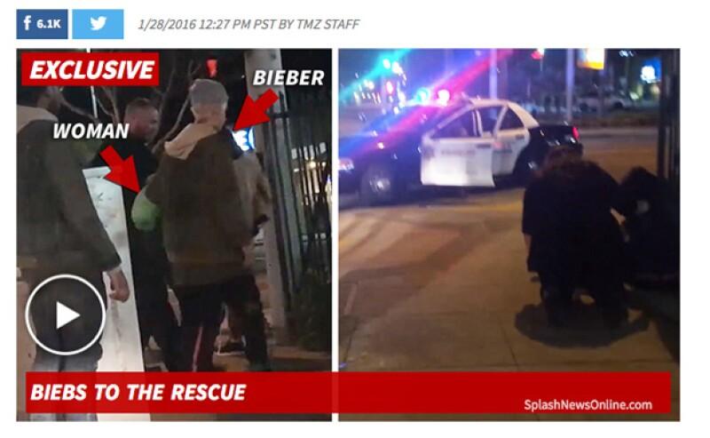 El cantante no lo pensó dos veces y se detuvo para ayudar a una mujer que pedía ayuda tras ser supuestamente golpeada por un coche.