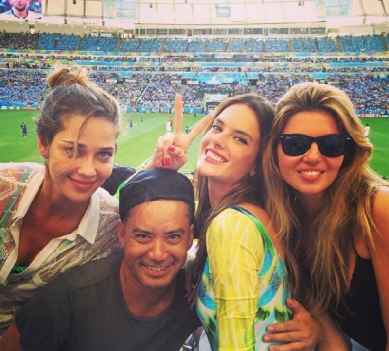 Alessandra, una de las fanáticas más vista en este Mundial.