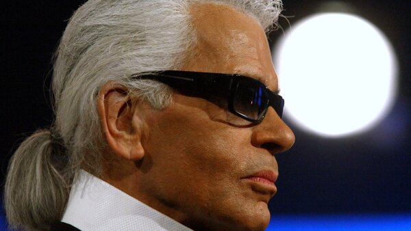 "FILE PHOTO - German fashion designer Karl Lagerfeld looks on during German television show ""Bet It....?!"" (Wetten.."