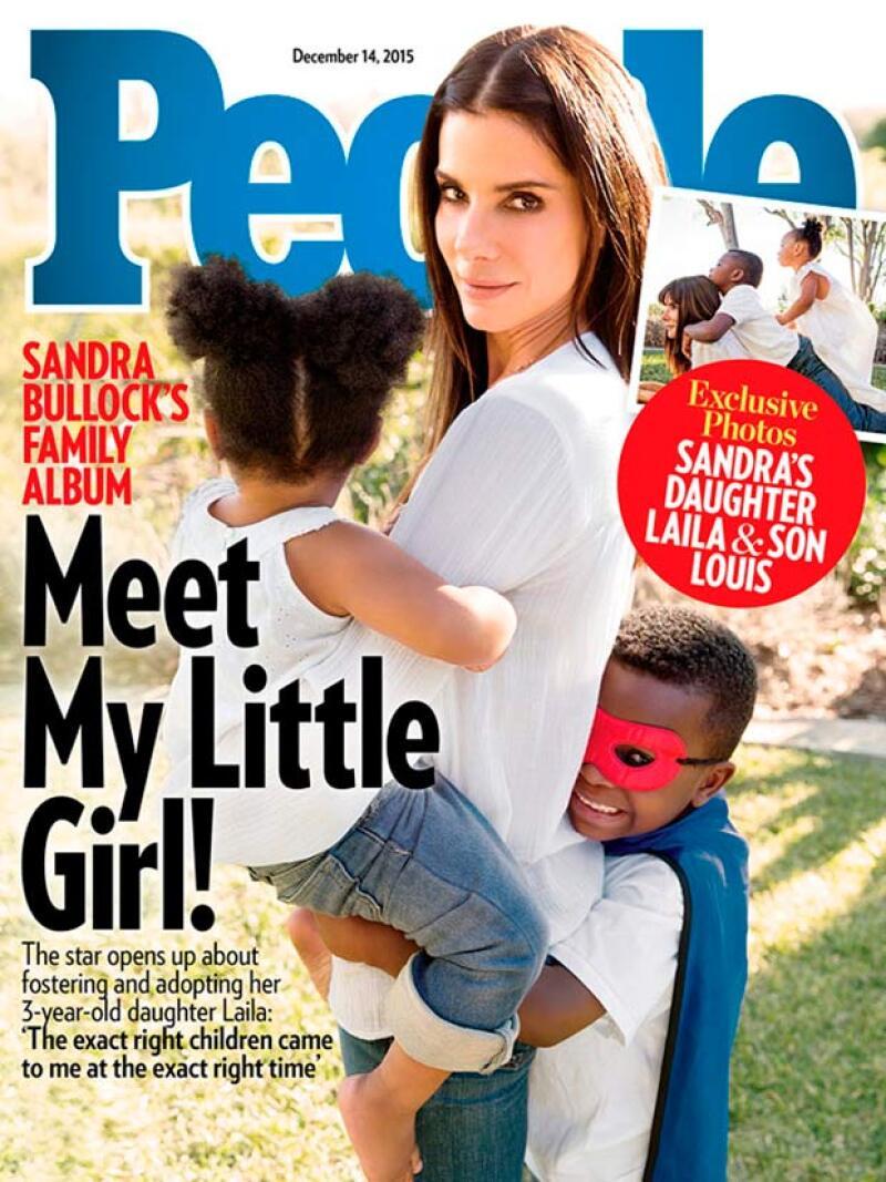 La actriz ha anunciado públicamente que ha adoptado a una niña de tres años después de ejercer de madre de acogida para la pequeña durante una temporada.