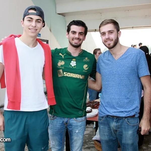 Nathan Sissa, Guido Branderbug y Enrique Costa
