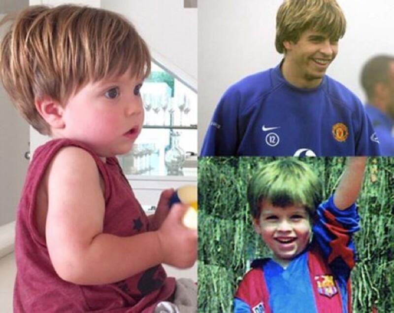 La artista compartió una imagen en su Instagram en la que padre e hijo aparecen con peinados idénticos.