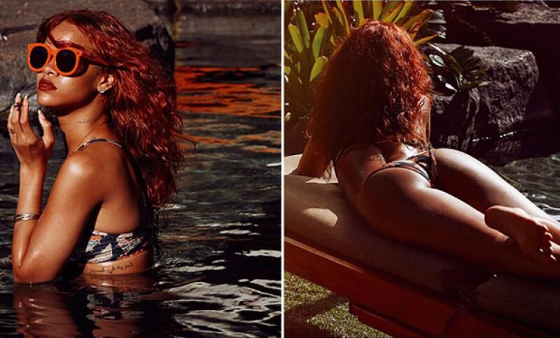Estas imágenes causaron revuelo en las redes sociales y sitios internacionales, debido al gran cuerpo y sensualidad de Riri.