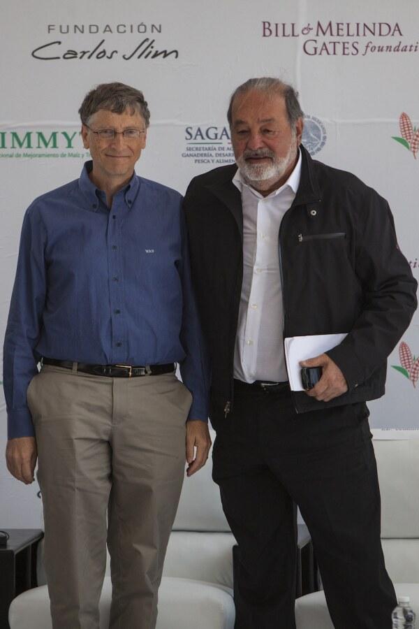 Bill Gates y Carlos Slim
