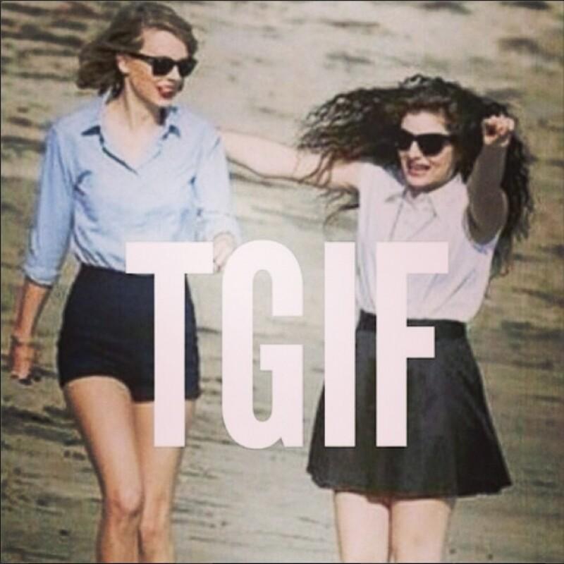 Taylor con su entrañable amiga Lorde.