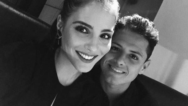 Andrea Duro y 'Chicharito' Hernández