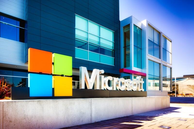 Fachada de edificio de Microsoft