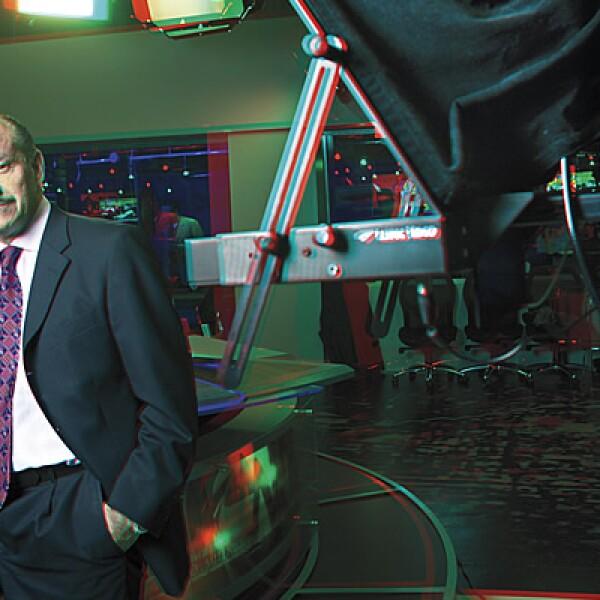 Tomás Sánchez, director corporativo de Mercadotecnia de Grupo Milenio. CAMPAÑA: La historia en tiempo real. PRODUCTO: Milenio TV. AGENCIA: Olabuenaga Chemistri.