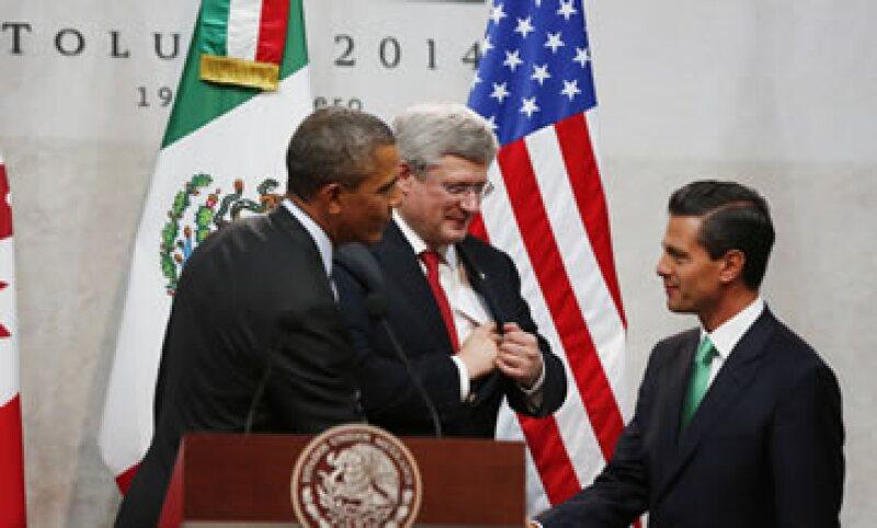 Peña llamó a trabajar para hacer de Norteamérica una región más competitiva y próspera en beneficio de sus habitantes. (Foto: Reuters)