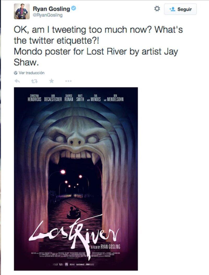 Entre no saber cómo usar Twitter y promocionar su film, Ryan se ganó nuevamente los corazones de sus seguidores.