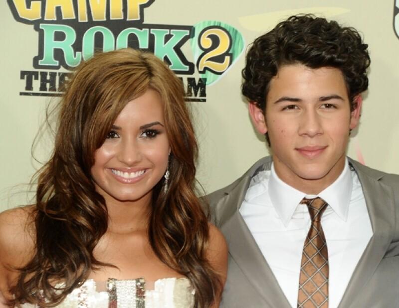 """Demi y Nick durante la promoción de la cinta """"Camp Rock 2"""" en 2010."""