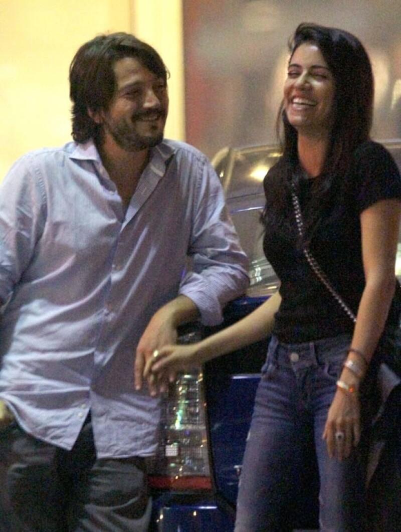 Diego y Olga no dejaron de reír y abrazarse.