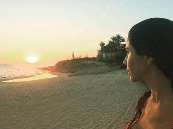 Paola Rojas en Baja California Sur.