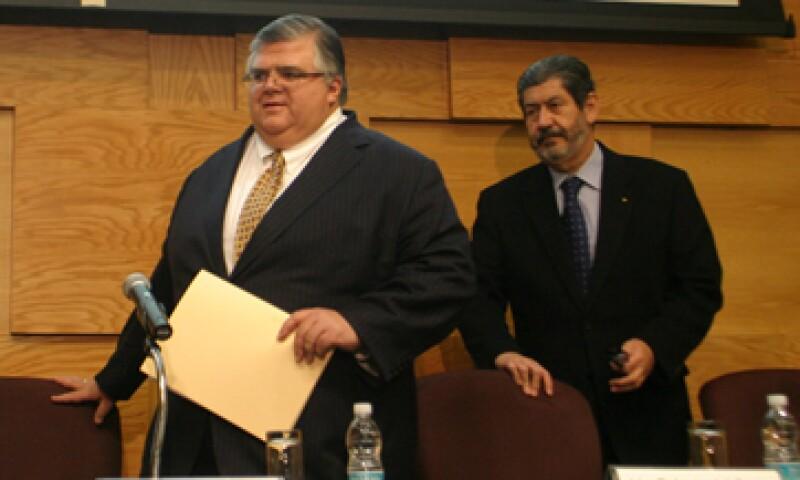 Roberto del Cueto –der- es abogado por la Escuela Libre de Derecho.  (Foto: Cuartoscuro )