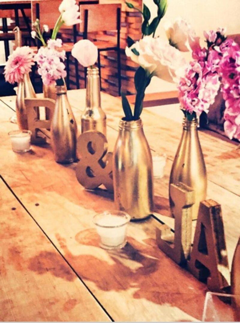 Flores en centro de mesa