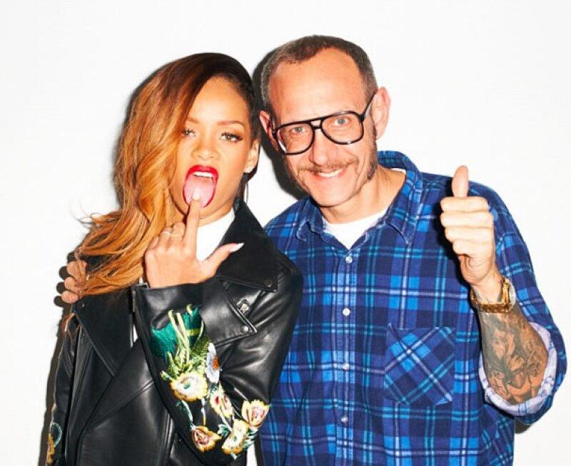Rihanna posó con uno de los fotógrafos más famosos del espectáculo, Terry Richardson.