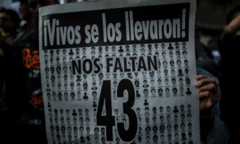 La desaparición de 43 estudiantes en Iguala, Guerrero, sacudió al país. (Foto: Getty Images)