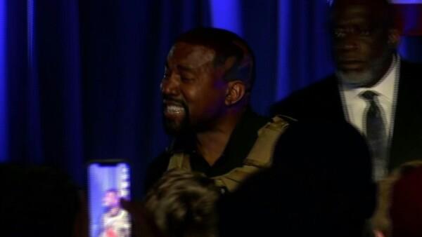 Kanye West llora en lanzamiento de su candidatura presidencial de EU