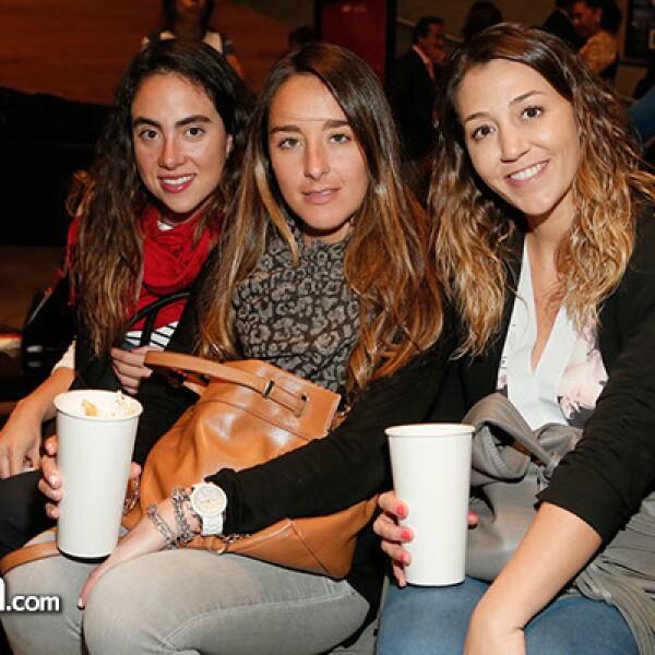 Mariana Céspedes,Ximena Pastrana y Begoña Quintana