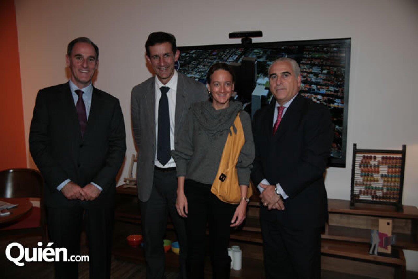 Jaime Alverde, Víctor Legorreta, Jacinta Legorreta y Ángel Losada