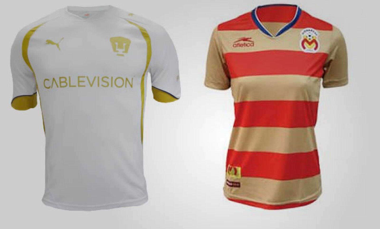 Las dos firmas también han fabricado algunas prendas especialmente diseñadas para mujeres; la opción de Pumas tiene un precio de 629 pesos, mientras que la de Monarcas, 149 pesos.