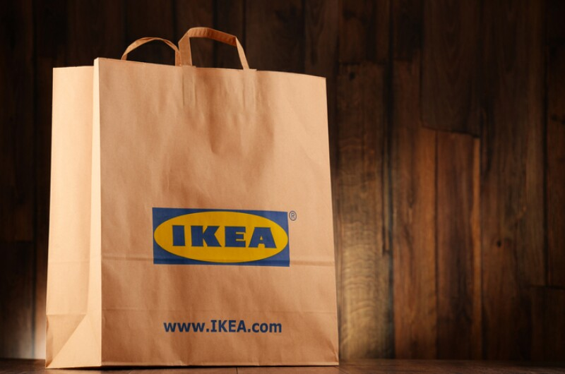 Original IKEA paper shopping bag