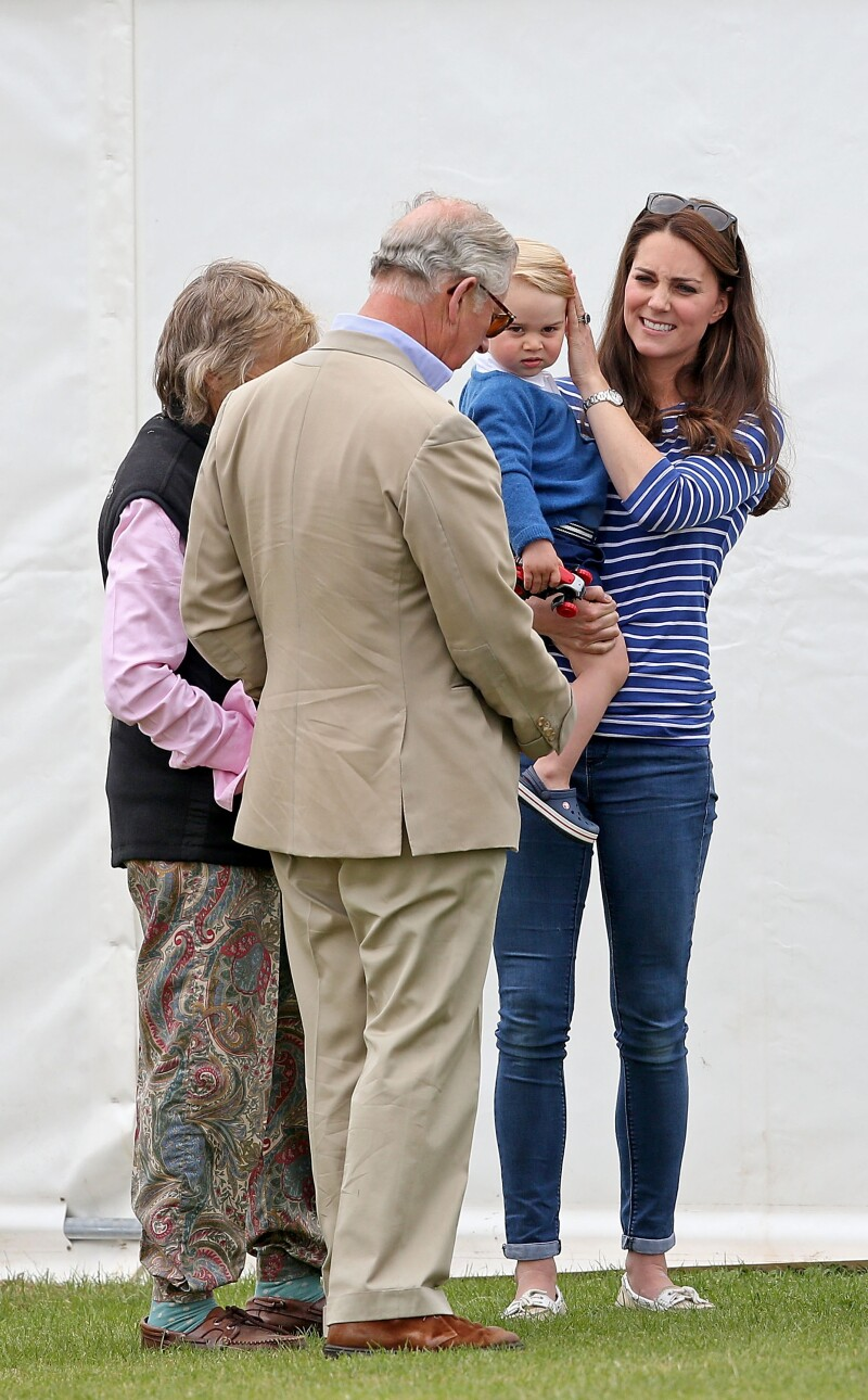 Prince Charles, Kate Middleton, and George