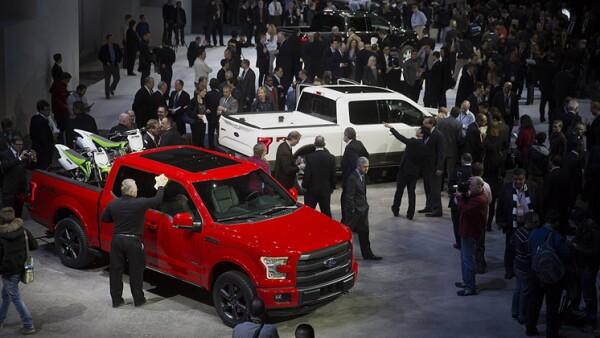 Ford Motor Co. hace gala en el Auto Show 2014 con sus nuevas camionetas. Aqu� la F-150