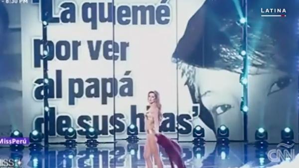Las participantes de Miss Perú alzan la voz contra la violencia de género