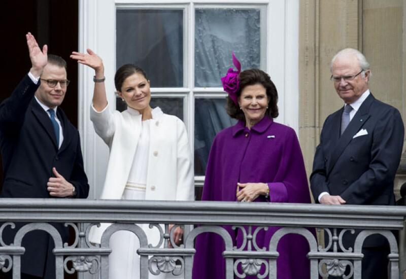 Los reyes de Suecia Silvia y Carlos Gustaf en las celebraciones del día de hoy en Copenhague.