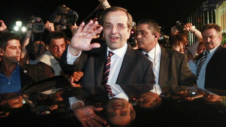 El dirigente de Nueva Democracia, Antonis Samaras, dijo que su principal prioridad es seguir con el euro, pero que se deben renegociar algunos términos del rescate.