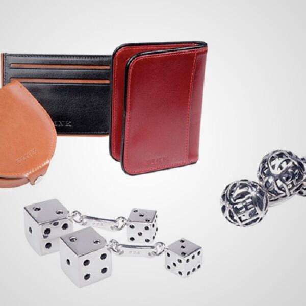 colección también incluye accesorios como carteras y mancuernillas.