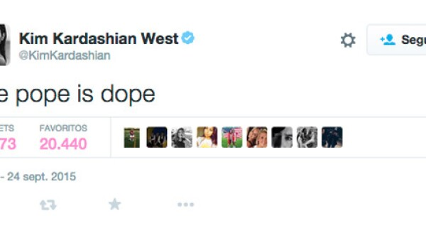Los seguidores del Pontífice se molestaron debido al comentario que la esposa de Kanye West hizo sobre él, quien ahora que se encuentra de visita en los Estados Unidos.