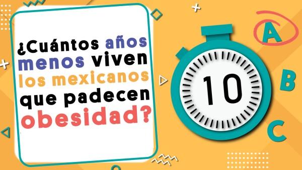 ¿Cuántos años menos viven los mexicanos que padecen obesidad? | #Crono