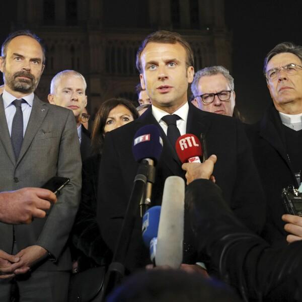 Incendio Notre Dame-Macron